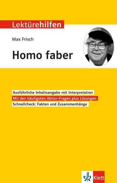 """Lektürehilfen Max Frisch """"Homo faber"""""""