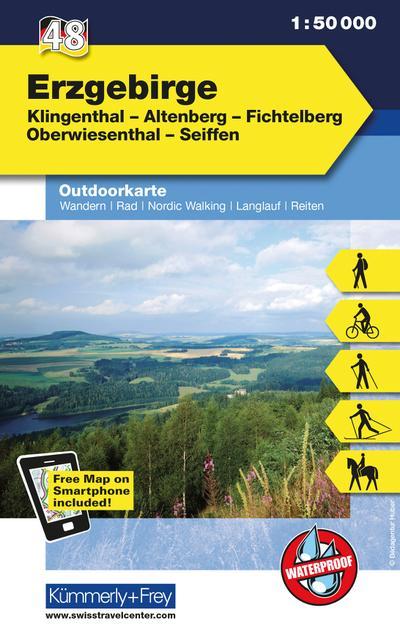 Kümmerly+Frey Outdoorkarte Erzgebirge
