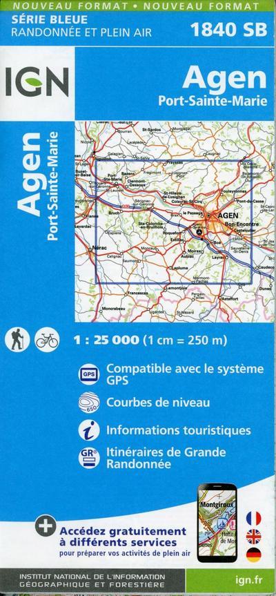 Agen.Port-Sainte-Marie 1:25 000