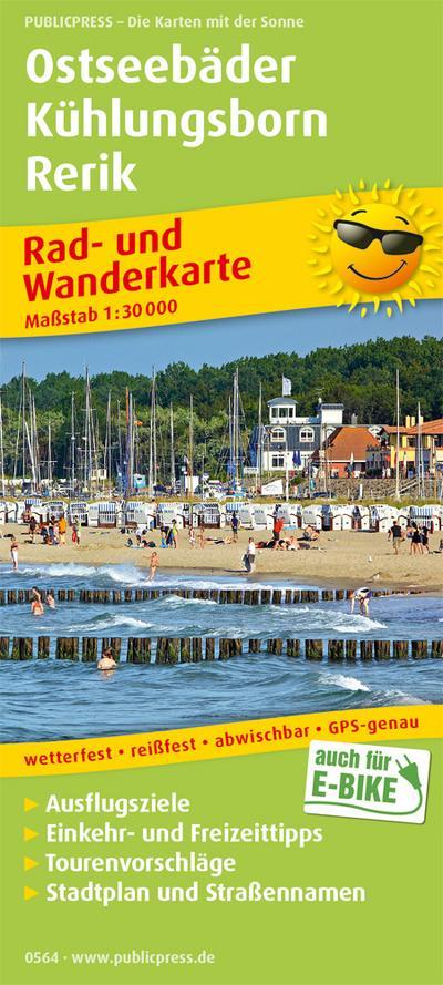 Ostseebäder Kühlungsborn - Rerik: Rad- und Wanderkarte mit Ausflugszielen, Einkehr- & Freizeittipps und Stadtplänen, wetterfest, reißfest, abwischbar, GPS-genau. 1:30000 (Rad- und Wanderkarte: RuWK)