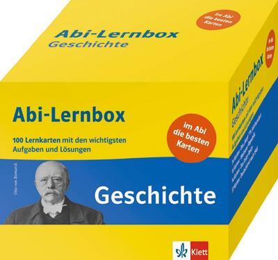 Klett Abi-Lernbox Geschichte: 100 Lernkarten mit den wichtigsten Aufgaben fürs Abitur