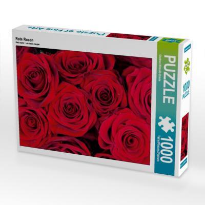 Rote Rosen 1000 Teile Puzzle quer