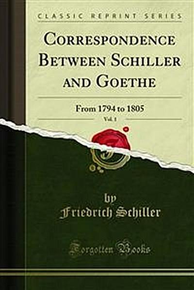 Correspondence Between Schiller and Goethe