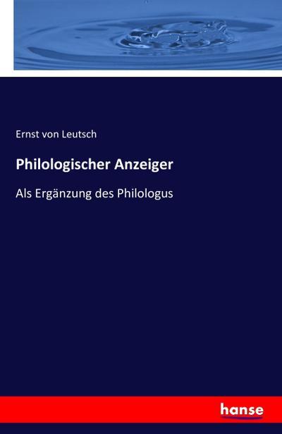 Philologischer Anzeiger
