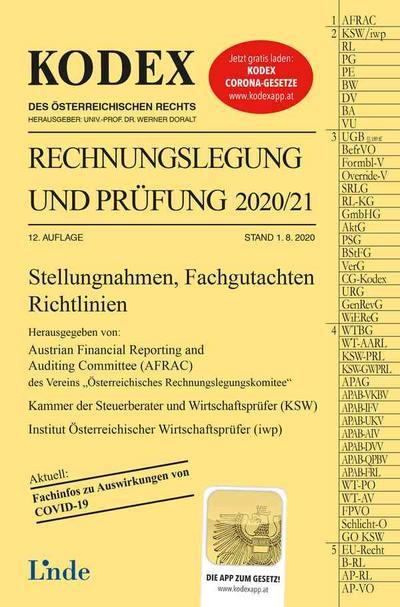 KODEX Rechnungslegung und Prüfung 2020/21 (Kodex des Österreichischen Rechts)