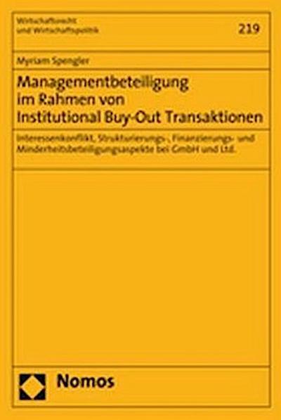 Managementbeteiligung im Rahmen von Institutional Buy-Out Transaktionen