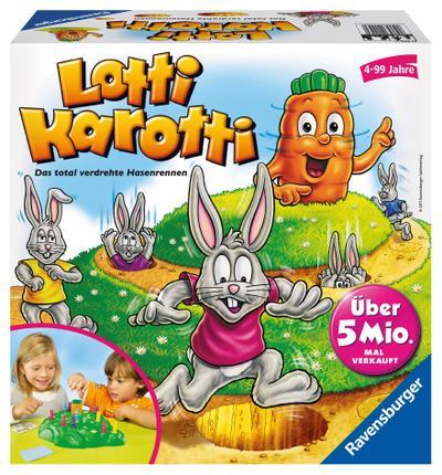Ravensburger 21556 - Lotti Karotti, Brettspiel für Kinder ab 4 Jahren, Familienspiel für Kinder und Erwachsene, Klassiker für 2-4 Spieler