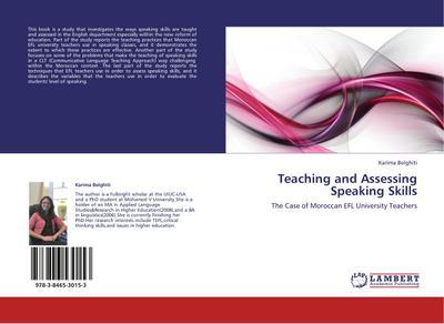 Teaching and Assessing Speaking Skills
