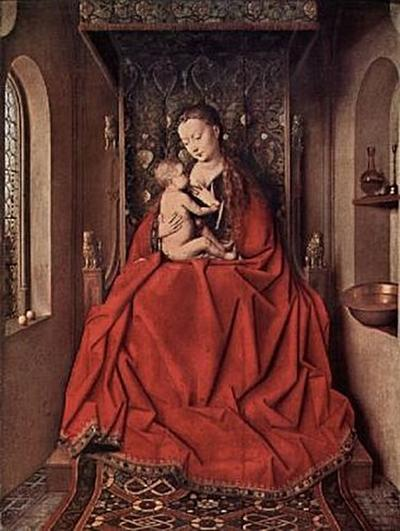 Jan van Eyck - Madonna von Lucca, Szene: Maria lactans - 200 Teile (Puzzle)