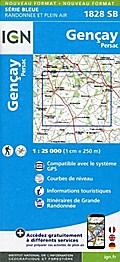 Gençay Persac 1 : 25 000