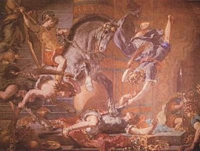 Eugène Ferdinand Victor Delacroix - Vertreibung Heliodors aus dem Tempel - 200 Teile (Puzzle)