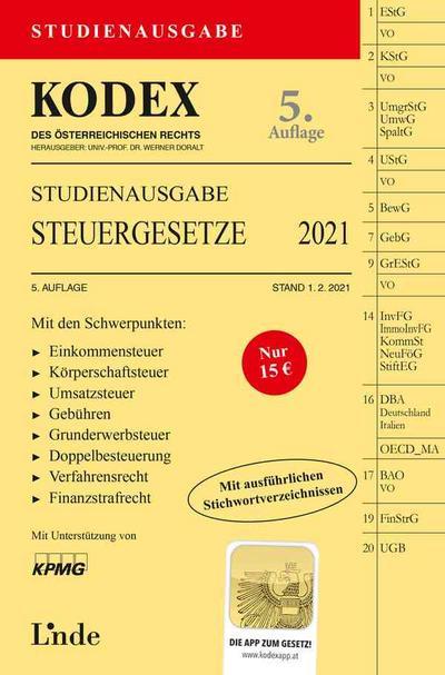 KODEX Steuergesetze 2021, Studienausgabe (f. Österreich)