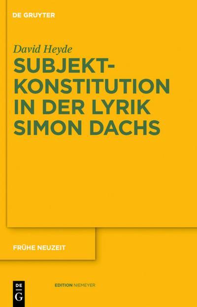 Subjektkonstitution in der Lyrik Simon Dachs