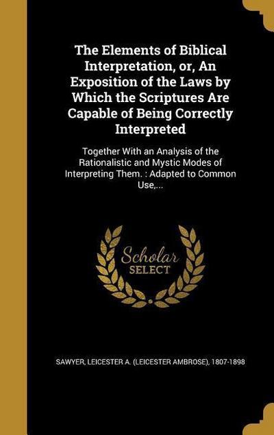ELEMENTS OF BIBLICAL INTERPRET