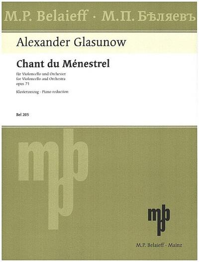 Chant du menestrel op.71für Violoncello und Klavier