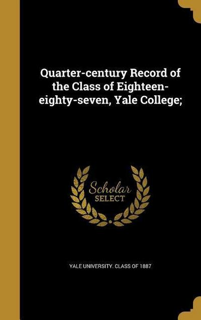 QUARTER-CENTURY RECORD OF THE