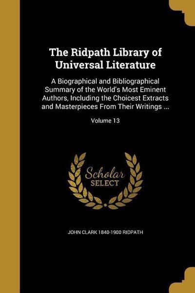 RIDPATH LIB OF UNIVERSAL LITER