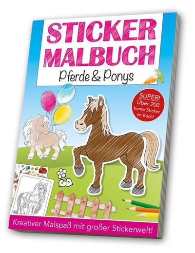 Stickermalbuch: Pferde & Ponys