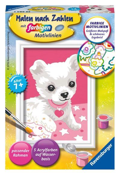 Ravensburger Malen nach Zahlen 29684 - Chihuahua, Malset - Ravensburger Spielverlag - Spielzeug, Französisch| Deutsch| Italienisch, , ,
