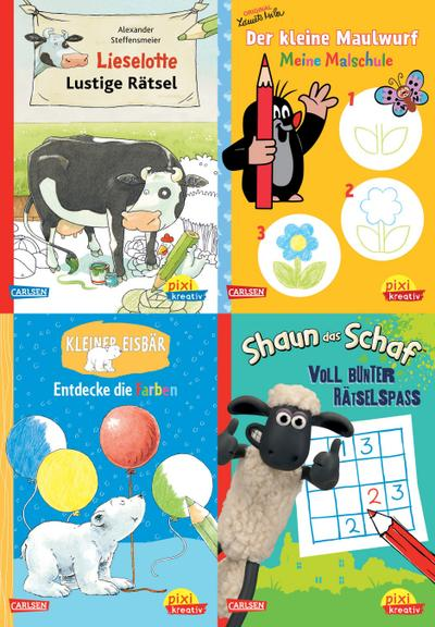 Pixi kreativ Serie Nr. 20: 4er Bundle: TV- und Bilderbuch-Stars bei Pixi kreativ
