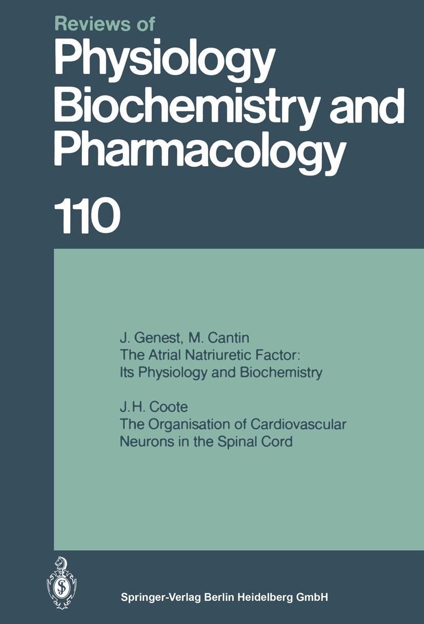 J. H. Coote / Reviews of Physiology, Biochemistry and Pharma ... 9783662310489
