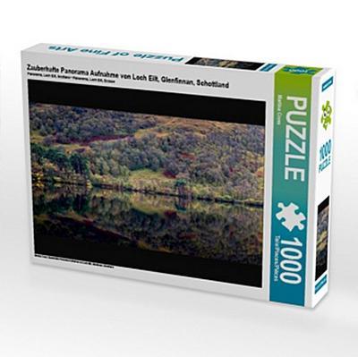 Zauberhafte Panorama Aufnahme von Loch Eilt, Glenfinnan, Schottland (Puzzle)