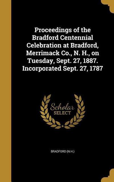 PROCEEDINGS OF THE BRADFORD CE