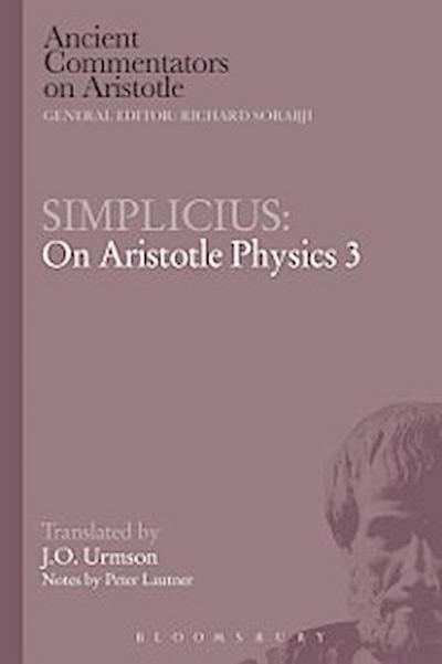 Simplicius: On Aristotle Physics 3