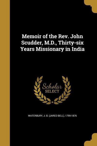 MEMOIR OF THE REV JOHN SCUDDER