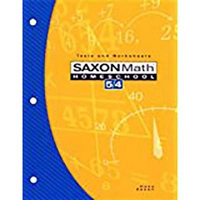 Saxon Math Homeschool 5/4: Tests and Worksheets