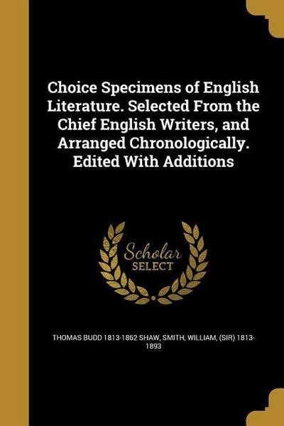 CHOICE SPECIMENS OF ENGLISH LI