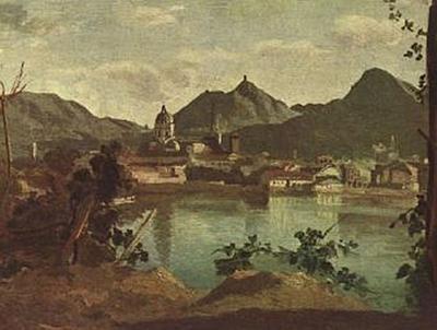 Jean-Baptiste-Camille Corot - Stadt und See von Como - 200 Teile (Puzzle)