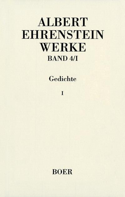 Werke IV: Gedichte