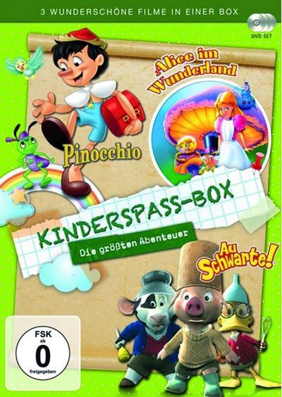 Kinderspaß Box - Die größten Abenteuer [3 DVDs] - Ascot Elite Home Entertainment - DVD, Englisch  Deutsch, , Deutsch, Deutsch