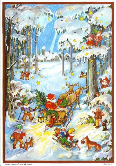 """Adventskalender """"Zwerge im Schnee"""""""