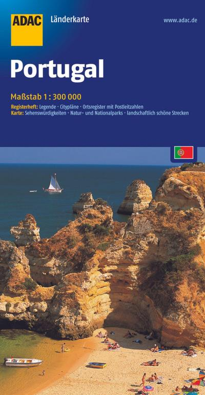 ADAC LänderKarte Portugal 1 : 300 000