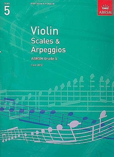 Violin Scales & Arpeggios, ABRSM Grade 5