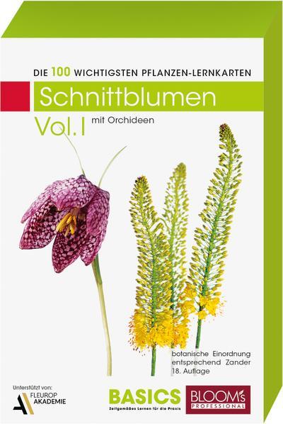 Pflanzen Lernkarten, Die 100 wichtigsten Schnittblumen. Tl.1
