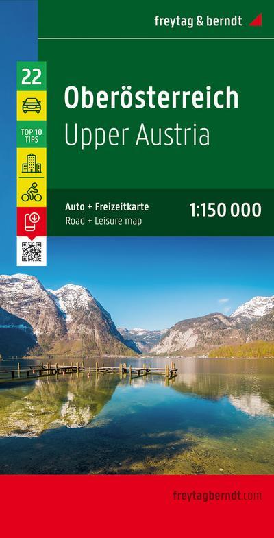 Oberösterreich 1 : 150 000 Autokarte