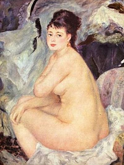 Pierre-Auguste Renoir - Weiblicher Akt (Anna) - 100 Teile (Puzzle)