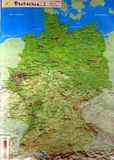 GeoReliefkarte Deutschland (Kunststoff) - Geomap - Landkarte, Deutsch, , ,
