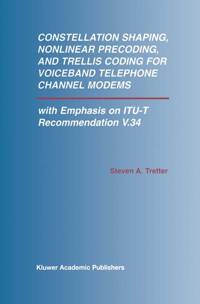 Constellation Shaping, Nonlinear Precoding, and Trellis Coding for Voiceband Telephone Channel Modems