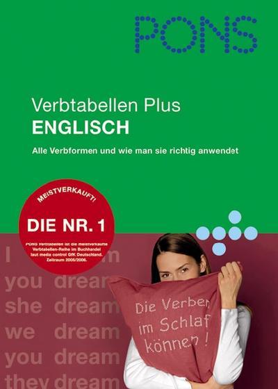 PONS Verbtabellen Plus Englisch: Übersichtlich und umfassend