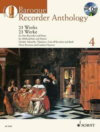 Baroque Recorder Anthology, Vol. 4: 23 Works for Alto Recorder and Piano with a CD of Performances and Backing Tracks