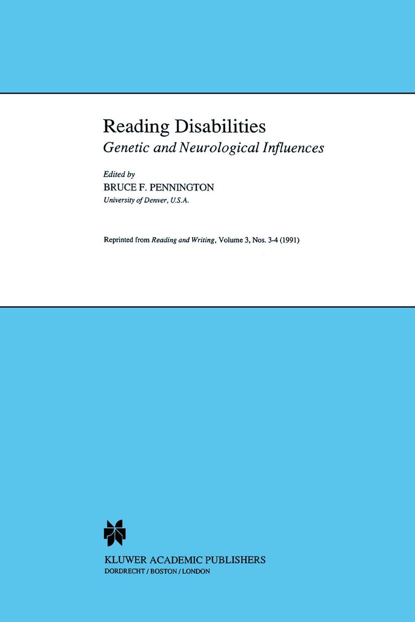 Reading Disabilities B. Pennington