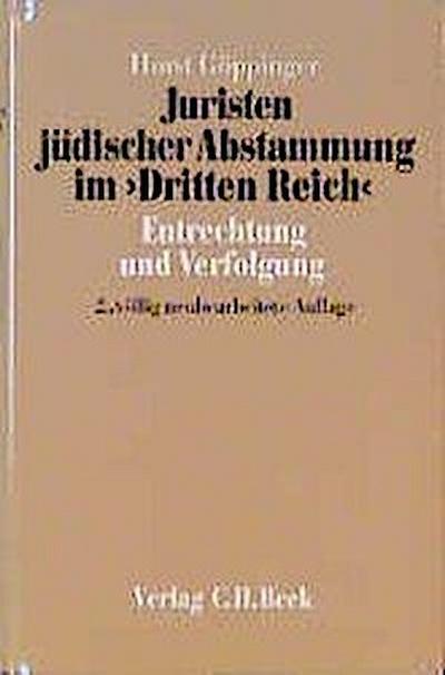 Juristen jüdischer Abstammung im Dritten Reich
