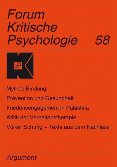 Forum Kritische Psychologie / Subjektivität, Gesundheits(politik) und Prävention