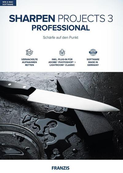 Sharpen projects 3 professional, CD-ROM