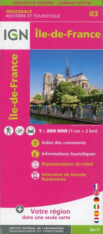 Île-de-France 1:250 000