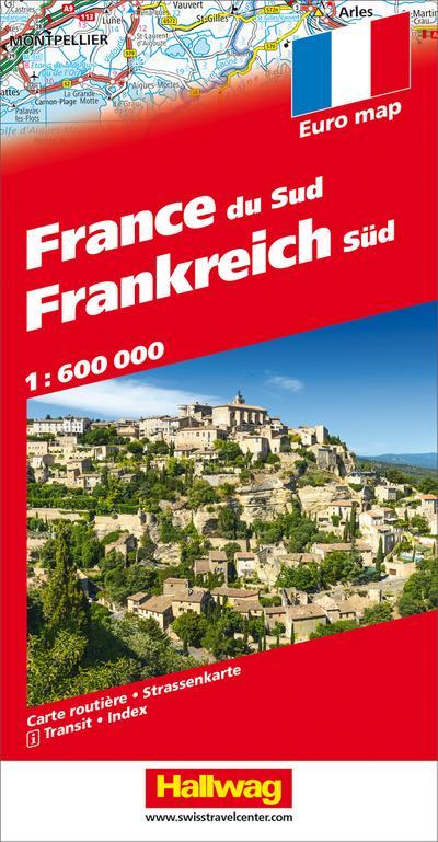 Frankreich Süd Strassenkarte 1:600 000
